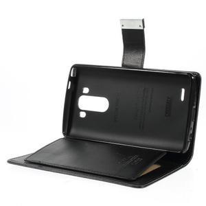 Luxusní PU kožené puzdro pre mobil LG G3 - čierne - 6