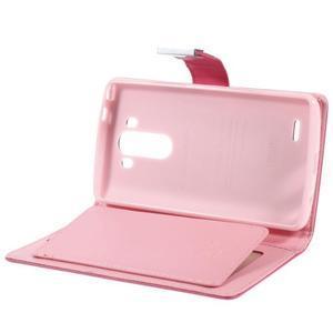 Luxusní PU kožené pouzdro na mobil LG G3 - rose - 6