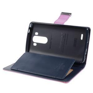 Luxusní PU kožené puzdro pre mobil LG G3 - fialové - 6