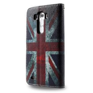 Motive koženkové pouzdro na LG G3 - UK vlajka - 6