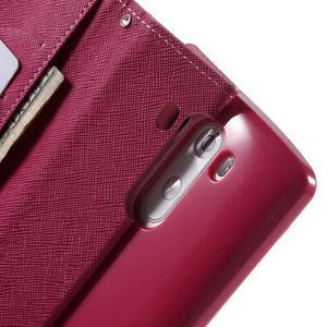 Cross PU kožené pouzdro na LG G3 - růžové - 6