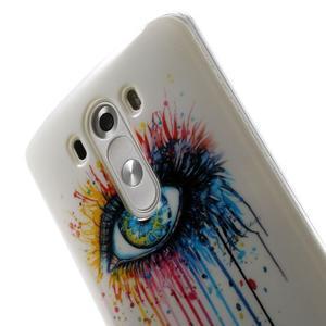 Gelový kryt na mobil LG G3 - barevné oko - 6