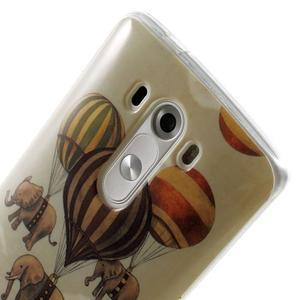 Gélový kryt pre mobil LG G3 - sloni - 6