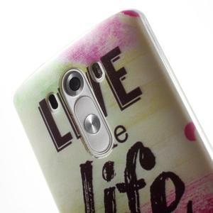 Silks gelový obal na mobil LG G3 - love - 6