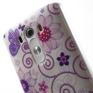 Silks gelový obal na mobil LG G3 - motýlci - 6