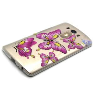 Priehľadný gélový obal pre LG G3 - motýľe - 6