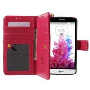 Patrové peňaženkové puzdro pre mobil LG G3 - rose - 6