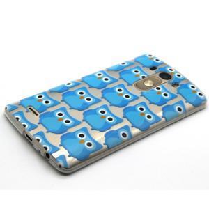 Priehľadný gélový obal pre LG G3 - modré malej sovy - 6