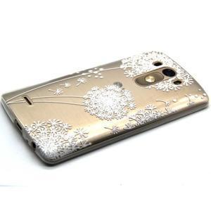 Priehľadný gélový obal pre LG G3 - biela púpava - 6
