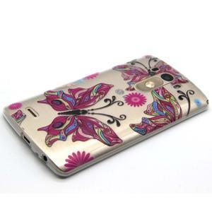 Priehľadný gélový obal pre LG G3 - farební motýľe - 6