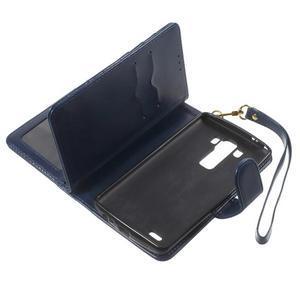 Patrové peněženkové pouzdro na mobil LG G3 - tmavěmodré - 6