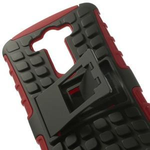 Outdoor odolný obal na mobil LG G3 - červený - 6