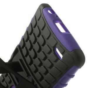 Outdoor odolný obal na mobil LG G3 - fialový - 6