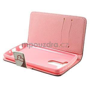 Zapínací peňaženkové puzdro pre LG G3 s - zamilovaní ptáčci - 6