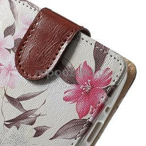 Elegantné lilie peňaženkové puzdro na LG G3 s - biele - 6