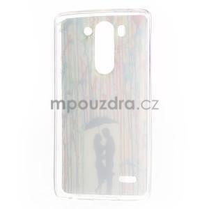 Gélový obal na LG G3 s - láska pod deštníkem - 6