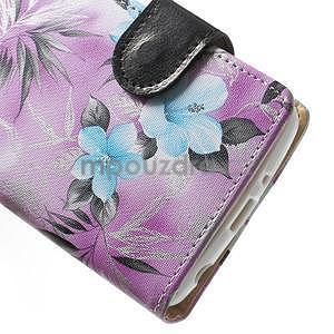 Elegantné lilie peňaženkové puzdro na LG G3 s - fialové - 6