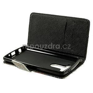 Zapínací peňaženkové puzdro pre LG G3 s - květina mandala - 6