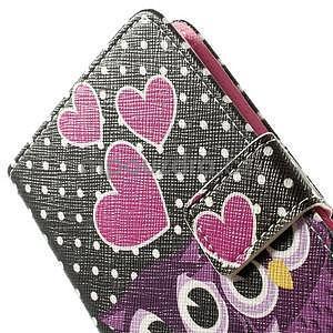 Zapínací peňaženkové puzdro pre LG G3 s - soví rodinka - 6