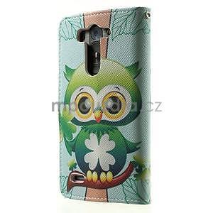 Zapínací peňaženkové puzdro pre LG G3 s - ptáček - 6