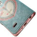 Zapínací peňaženkové puzdro pre LG G3 s - srdce - 6/7