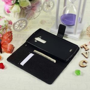 Call peňaženkové puzdro pre LG G4 - modrý motýľ - 6