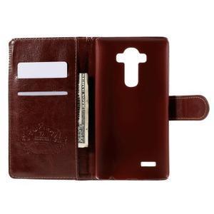 Koženkové puzdro pre mobil LG G4 - Henna - 6
