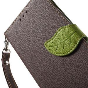 Leaf peněženkové pouzdro na mobil LG G4 - hnědé - 6