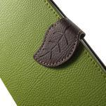 Leaf peněženkové pouzdro na mobil LG G4 - zelené - 6/7