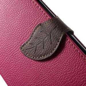 Leaf peňaženkové puzdro pre mobil LG G4 - rose - 6