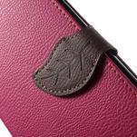 Leaf peňaženkové puzdro pre mobil LG G4 - rose - 6/7