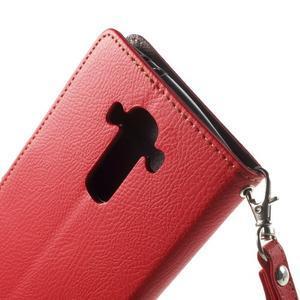 Leaf peněženkové pouzdro na mobil LG G4 - červené - 6