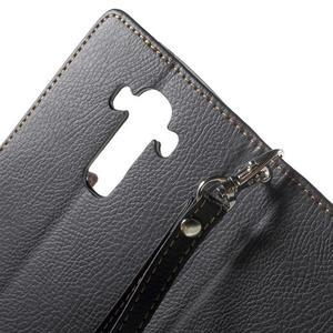 Leaf peněženkové pouzdro na mobil LG G4 - černé - 6