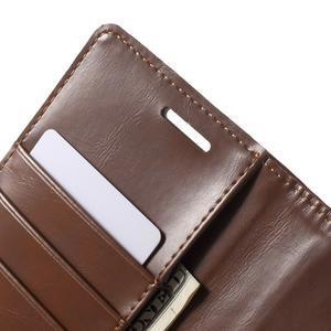 Luxury PU kožené puzdro pre mobil LG G4 - hnedé - 6