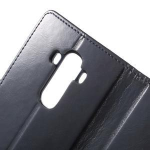 Luxury PU kožené puzdro pre mobil LG G4 - tmavomodré - 6
