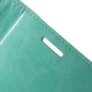 Luxury PU kožené puzdro pre mobil LG G4 - cyan - 6