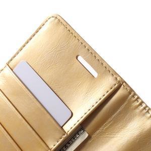 Luxury PU kožené puzdro pre mobil LG G4 - zlaté - 6