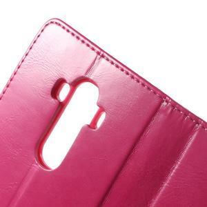 Luxury PU kožené puzdro pre mobil LG G4 - rose - 6