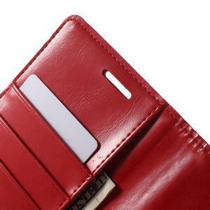 Luxury PU kožené pouzdro na mobil LG G4 - červené - 6