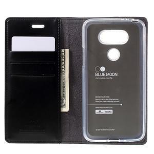 Luxury PU kožené puzdro pre mobil LG G5 - čierne - 6