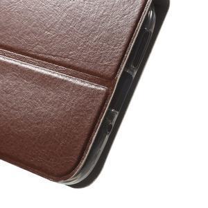 Horse PU kožené peňaženkové puzdro pre LG G5 - hnedé - 6