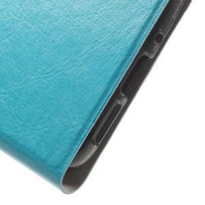 Horse PU kožené peňaženkové puzdro pre LG G5 - modré - 6