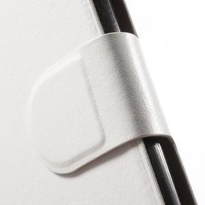 Horse PU kožené peňaženkové puzdro pre LG G5 - biele - 6