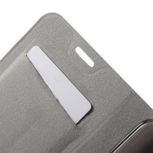 Horse PU kožené peněženkové pouzdro na LG G5 - černé - 6
