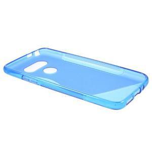 S-line gélový obal pre mobil LG G5 - modrý - 6