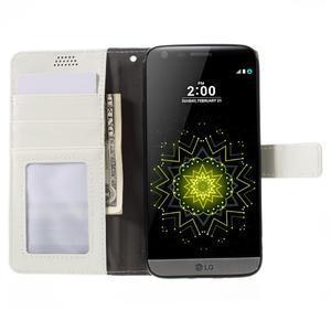 Wax peňaženkové puzdro pre LG G5 - biele - 6