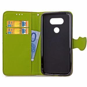 Leaf PU kožené puzdro pre LG G5 - hnedé - 6