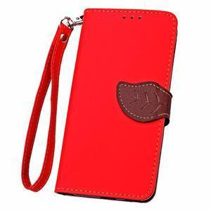Leaf PU kožené pouzdro na LG G5 - červené - 6