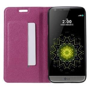 Klopové peneženko puzdro pre LG G5 - rose - 6