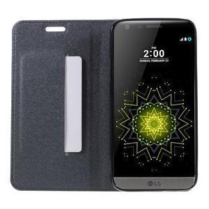 Klopové peňaženkové puzdro pre LG G5 - sivé - 6